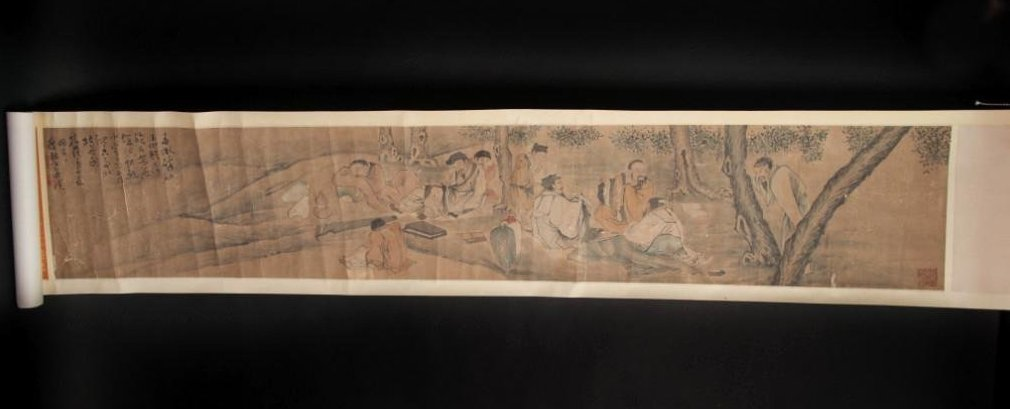 CHINESE QING SCROLL PAINTING BY HUANG SHEN