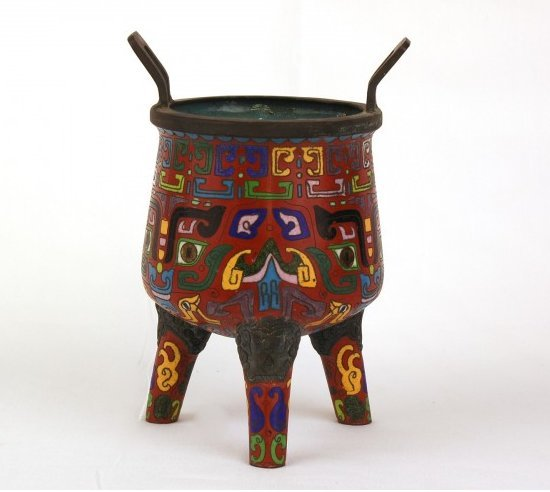CHINESE MING STYLE CLOISONNE CENSOR
