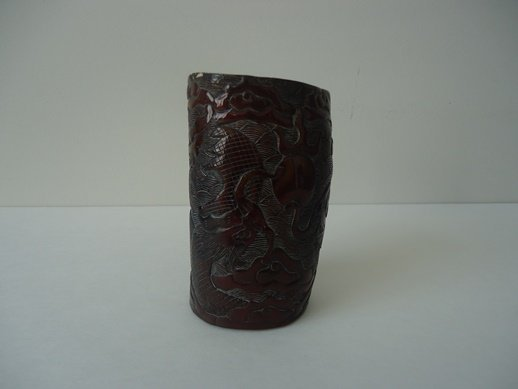 CHINESE QING HORN CUP