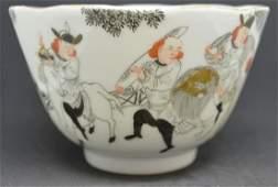 Fine Famille Rose Tea bowl 1900's. Signed
