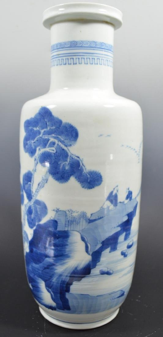 Large 18 th  Century Chinese Blue And White Vase