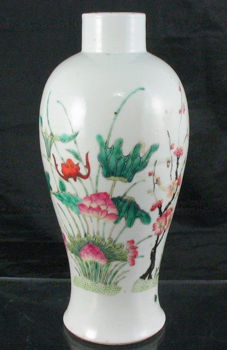 6013:Fine 19th Century Chinese Export Famille Rose Vase