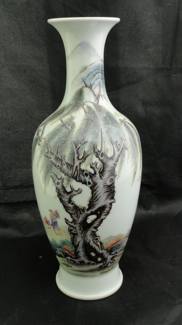 6017: Chinese Famille Rose Vase early 1900's Hong'xian