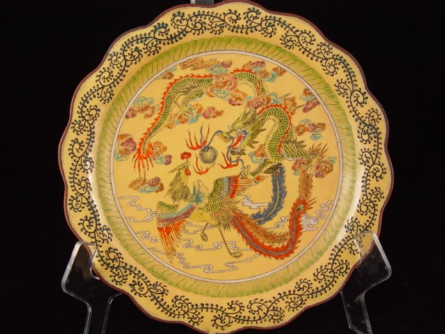 011: Fine Beijing Enameled Plate. KangXi Marked