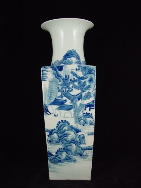 003: 19th Century Chinese Export Quadrilateral Vase