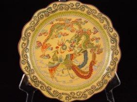 Fine Beijing Enameled Plate. KangXi Marked