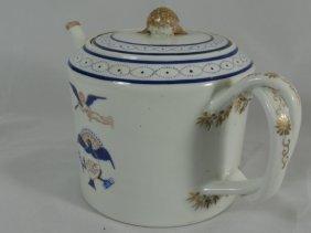 018: 19th Century Chinese export Teapot flying cherub