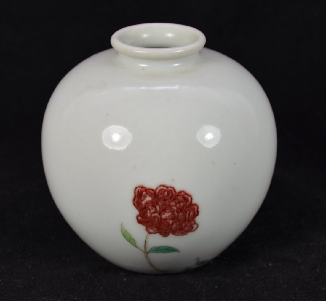 An old Chinese Scholar Coupe Underglaze Red