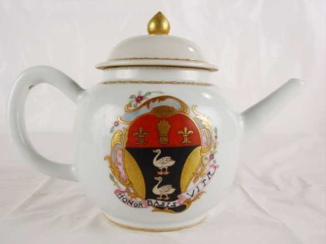 Fine Chinese Export Teapot with European Armorial