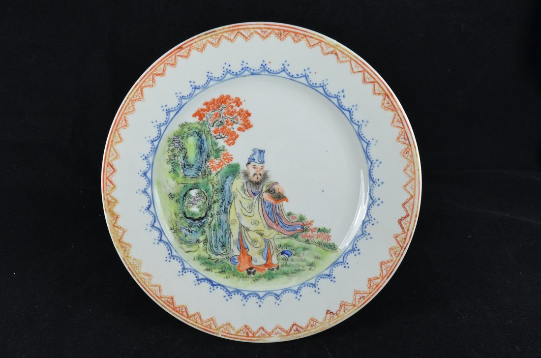 19th Century Chinese Famille Rose Plate