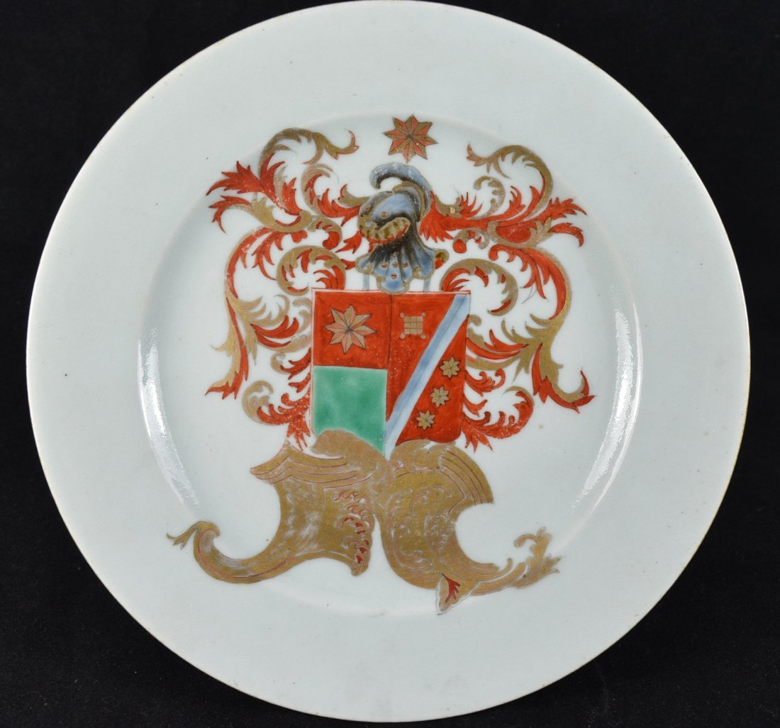 Rare 18th Century Chinese Export Armorial Plate