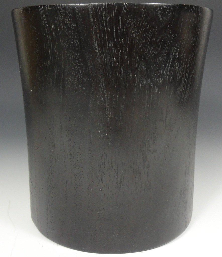 Large Chinese Zitan hardwood brushpot