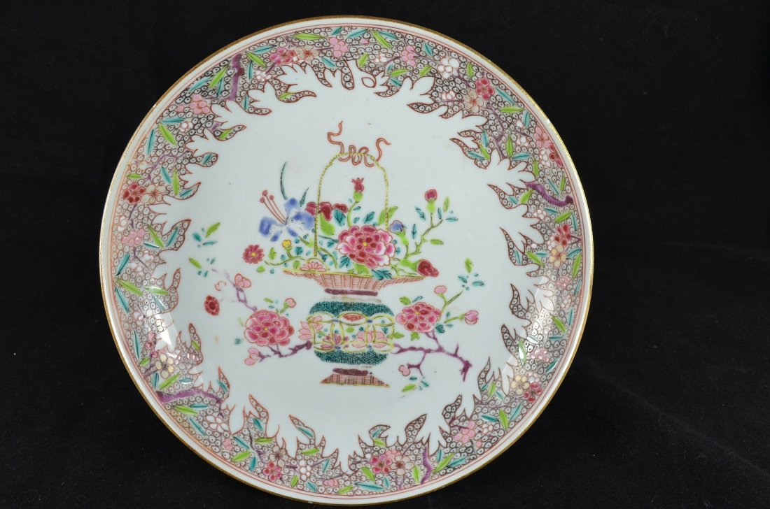 Fine 18th Century Chinese Famille Rose Plate
