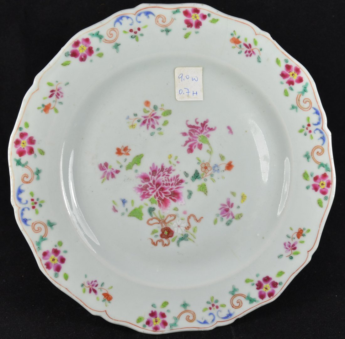 18th Century Chinese Export Famille Rose Plate