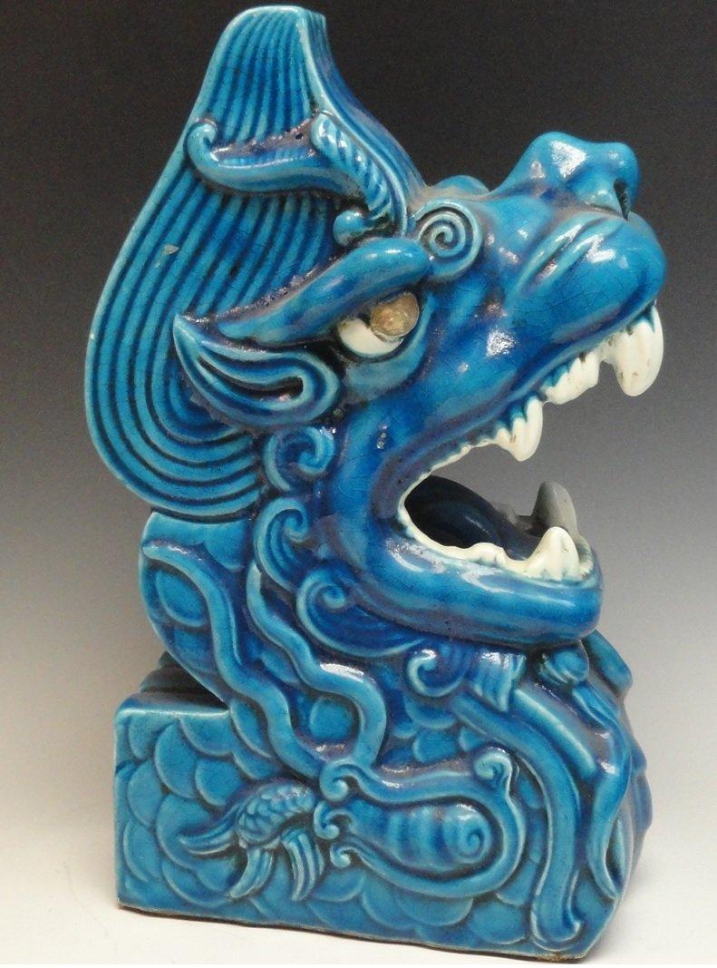 16th Century Rare Turquoise Glazed Sculpture