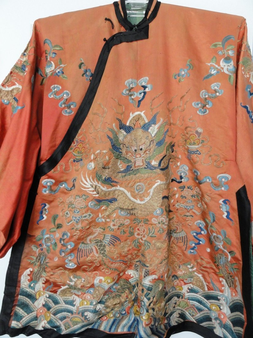 Important  Imperial Silk Embroidery Dragon Robe