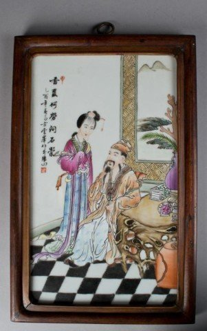 A Porcelain Plaque from an early 1900's Importan Artist
