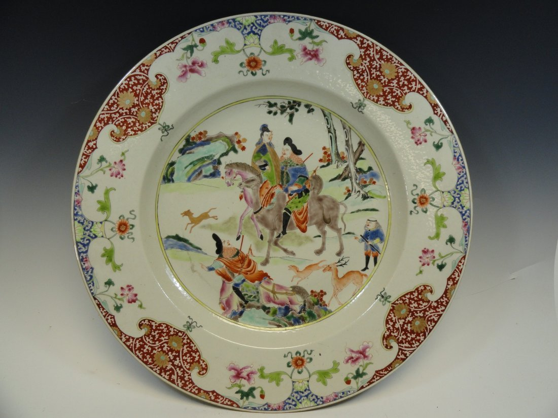 19th Century Chinese Famille Rose Charger