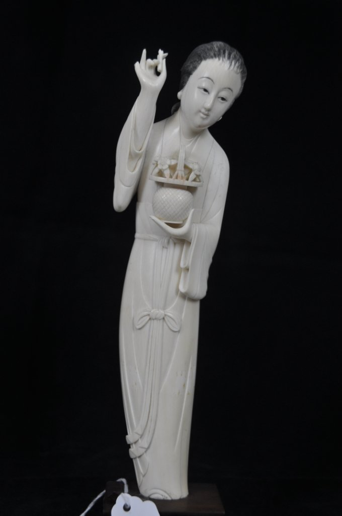 96: Finely carved ivory beauty Superbly carved, Chinese