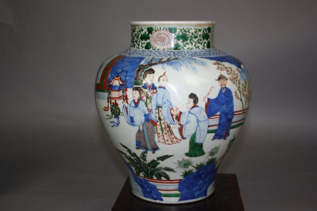 9: 18th - 19th Century Wucai Enameled Porcelain Figural