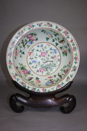 10: 19th Century Famille-Rose Big Bowl Chinese Famille-