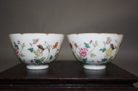 15: 19th Century A pair of Famille-Rose Bowls DA QING D