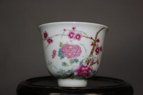16: 18th Century Famille-Rose Enameled Small Cup DA QIN