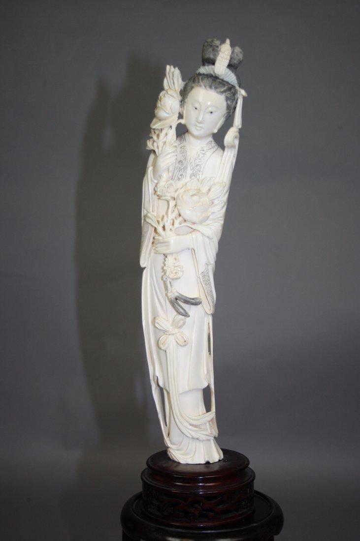 21:  Finely Carved Ivory Beauty Figure Superbly carved,