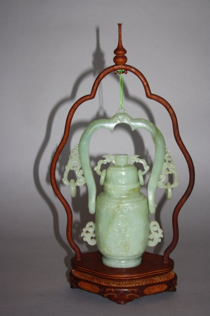 88: 18th - 19th Century Chinese Jade Hanging Urn Vase