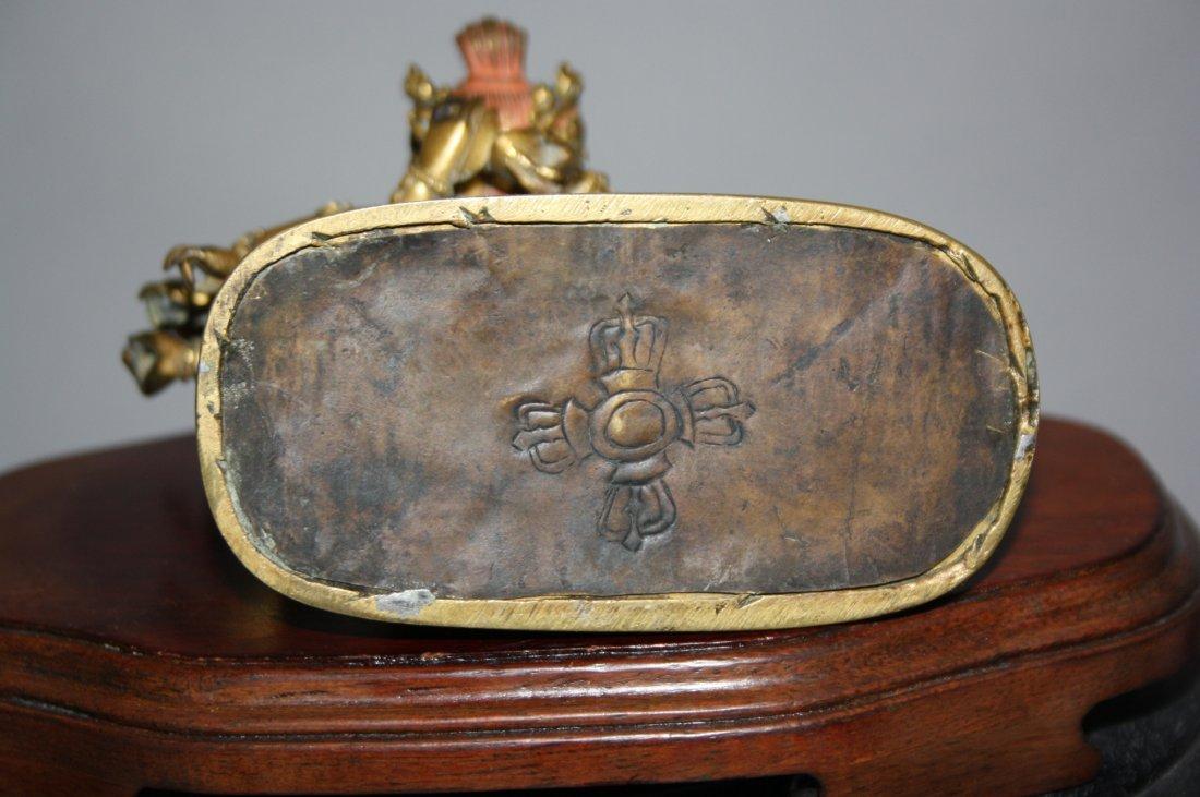 110: Sino-Tibetan Gilt Bronze Yamantaka 17th-18th - 4