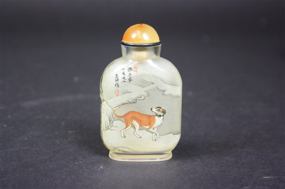 """Chinese Crystal Snuff Bottle   19th/20th Century  3.1"""""""