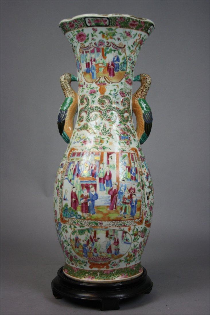 Chinese Rose Medallion  Huge Vase  19th Century, Good c