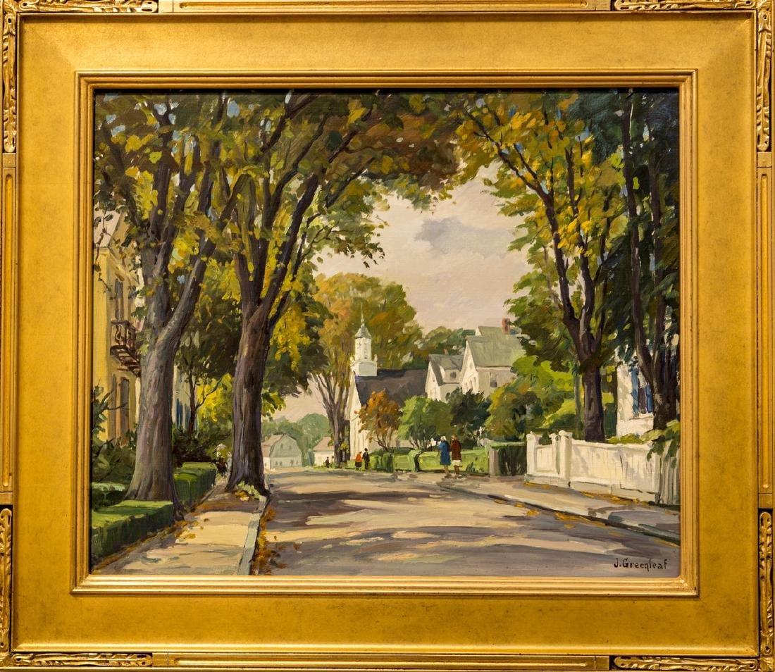 Jacob Greenleaf 1887-1968 A Street In Rockport