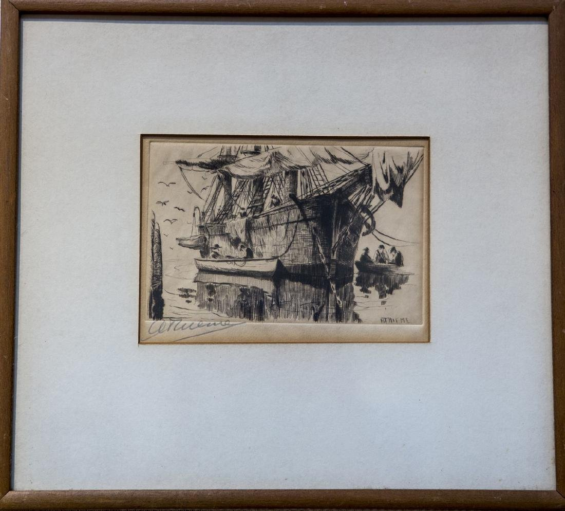 Anthony Thieme 1888-1954 Whaleship