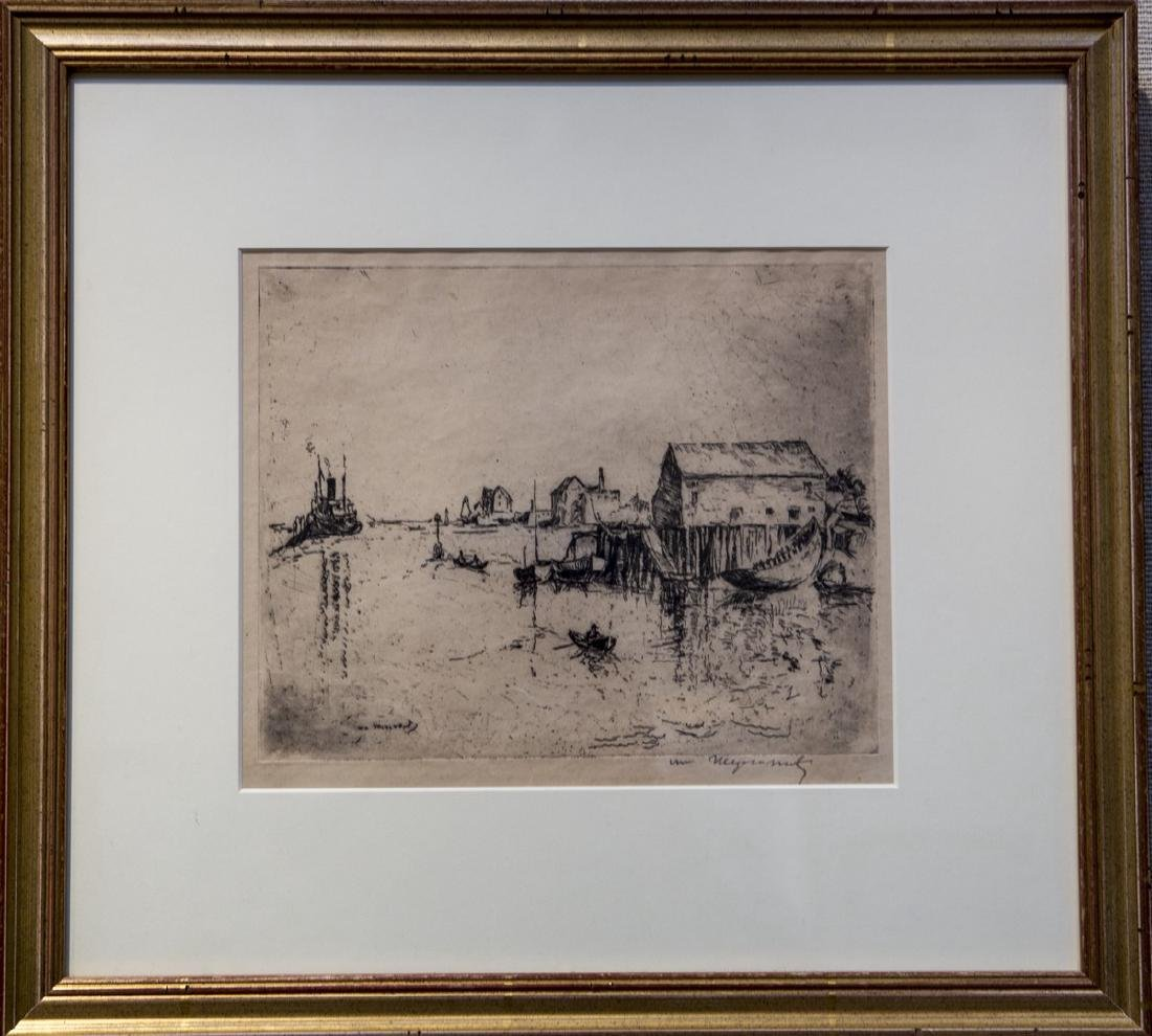 William Meyerowitz 1887-1981 Gloucester Harbor