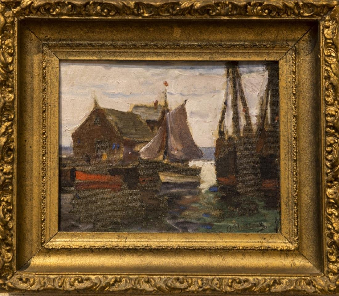 Anthony Thieme 1888-1954 Rockport Harbor