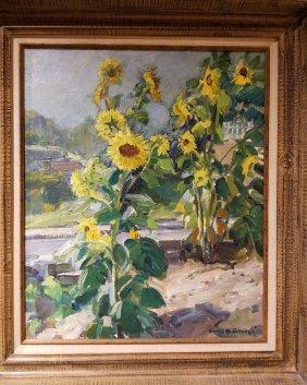 Emile Gruppe 1896-1978 My Sunflowers