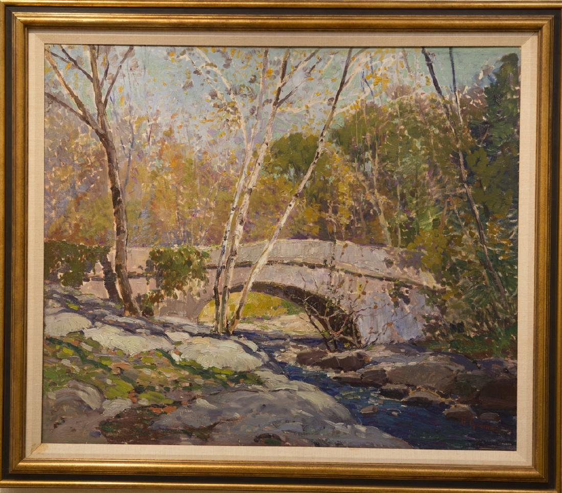 Anthony Thieme 1888-1954 Bridge In Autumn