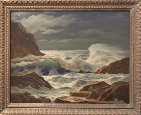William C. Ehrig 1892-1973 Moonlit Sea