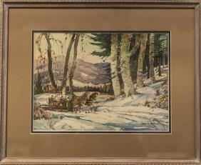 James King Bonnar 1883-1961 Sleigh Ride