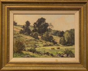 Bernard Corey 1914-2000 Landscape With Cows