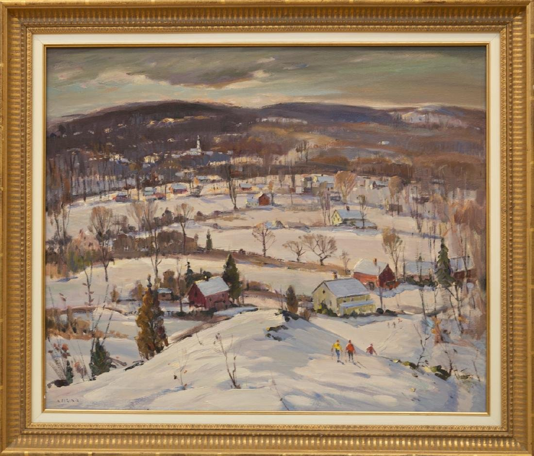 Antonio Cirino 1888-1983 Winter Scene