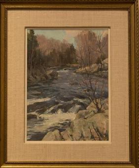 Bernard Corey 1914-2000 Mountain Stream Blackstone