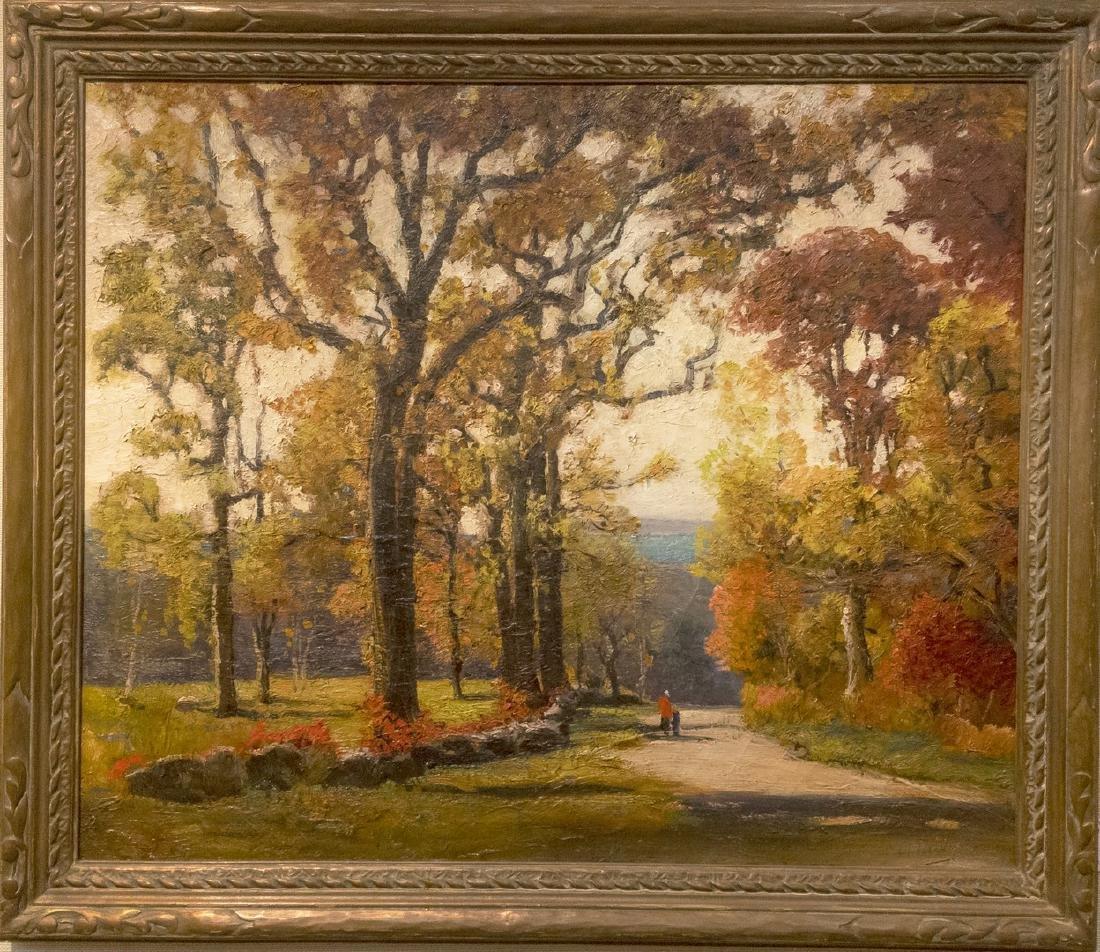 Anthony Thieme 1888-1954 Autumn Leaves Pigeon Cove