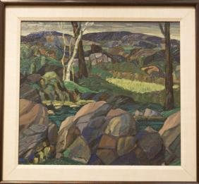 Leighton R. Cram 1895-1981 Decorative Landscape