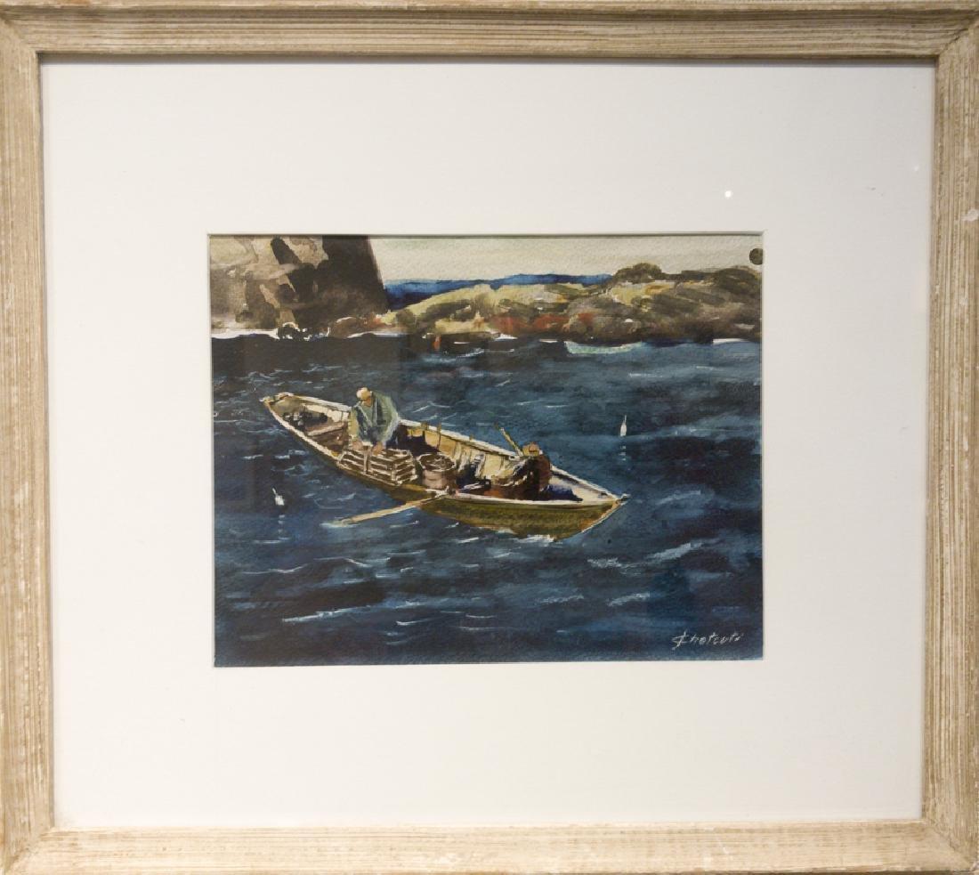 John Chetcuti 1900-1976 Fishing