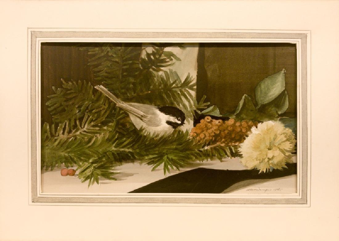 Stow Wengenroth 1906-1978 Chickadee with Pine