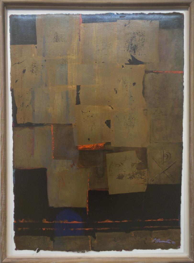 Constantine Arvanites 1921-1998 Gold Abstraction