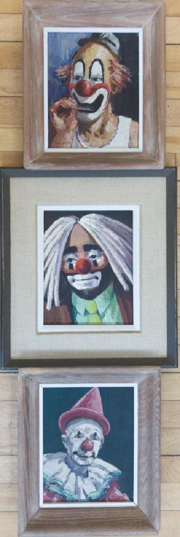 Ken Gore 1911-1991 Three Ringling Brothers Clowns (3