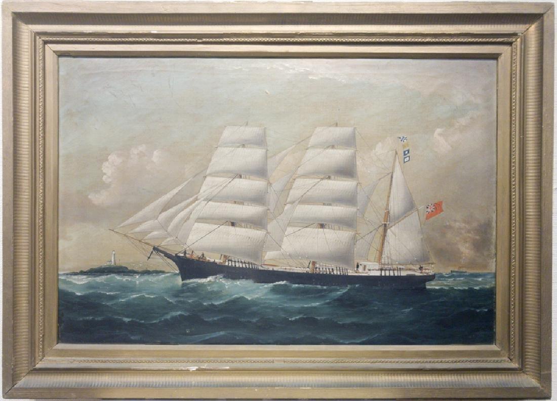 artist unknown  Barque Ship - The Antwerp